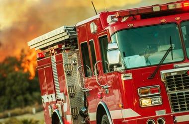 fire truck wild fire