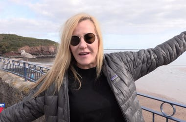 Kelly Ford In Ireland At Beach