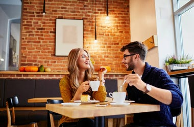 romantic coffee date