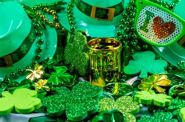 st patrick's day hats beads