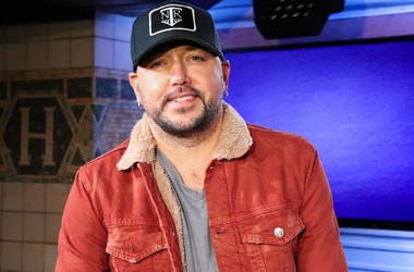 Jason Aldean at New York's Country 94.7 in NYC
