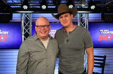 Jon Pardi and Jesse Addy at New york's Country 94.7 in NYC