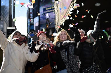 times square confetti new years eve