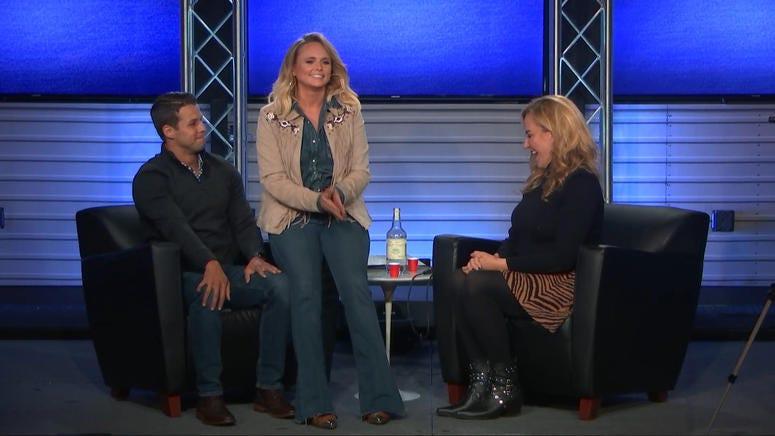 Miranda Lambert with husband Brendan McLoughlin in the RADIO.COM Theater