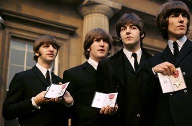 Paul McCartney, George Harrison, John Lennon, Ringo Starr of The Beatles