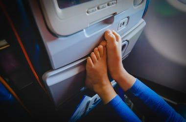 feet on a plane