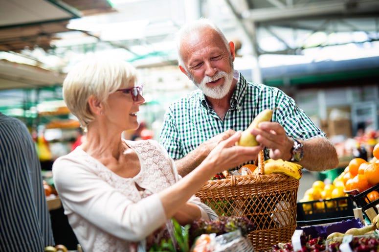 elderly shoppers
