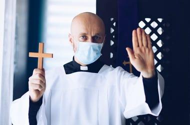masked clergy