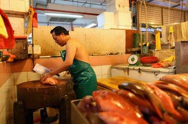wet meat market