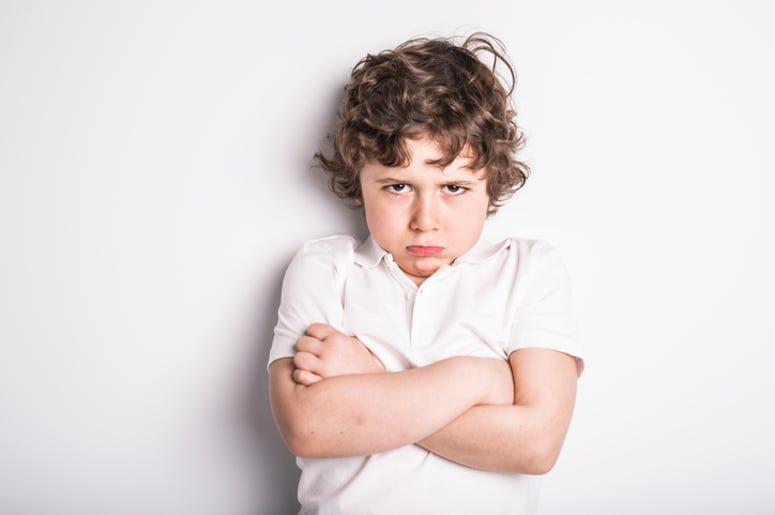 boy sulking