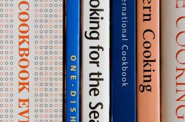 cookbook spines