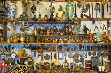 shelves of junk