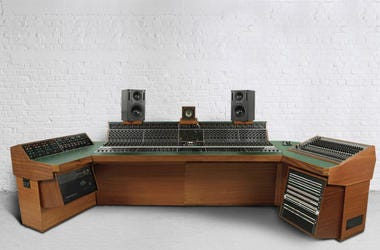 """Recording studio console used to record Led Zeppelin's """"Stairway to Heaven"""""""