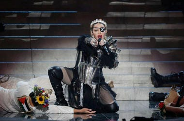 Madonna, performs live on stage after the 64th annual Eurovision Song Contest held at Tel Aviv Fairgrounds on May 18, 2019 in Tel Aviv, Israel