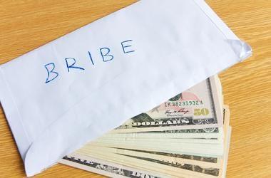 bribe money