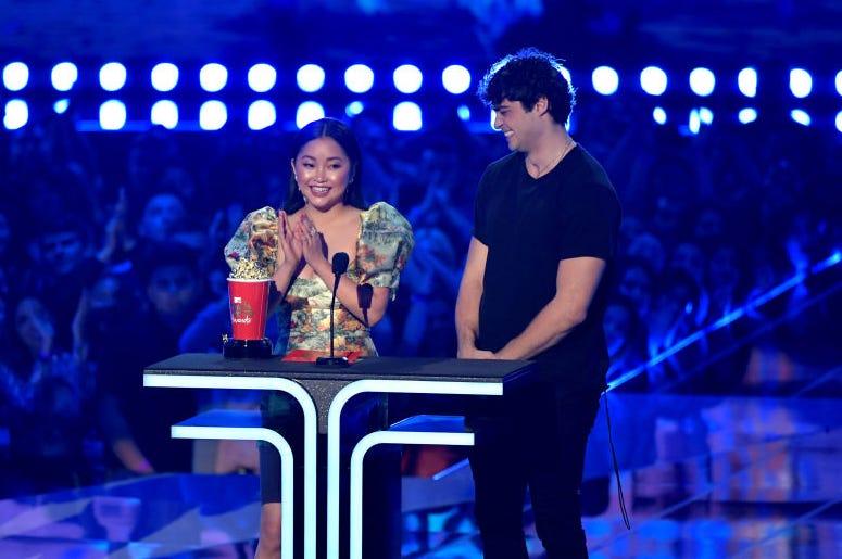 Noah Centineo and Lana Condor Won Best Kiss at the MTV Movie & TV Awards.jpg