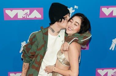 20 August 2018 - New York, New York - Lil Xan, Noah Cyrus. 2018 MTV Video Music Awards at Radio City Music Hall.