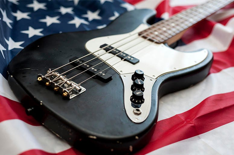 American Flag Guitar
