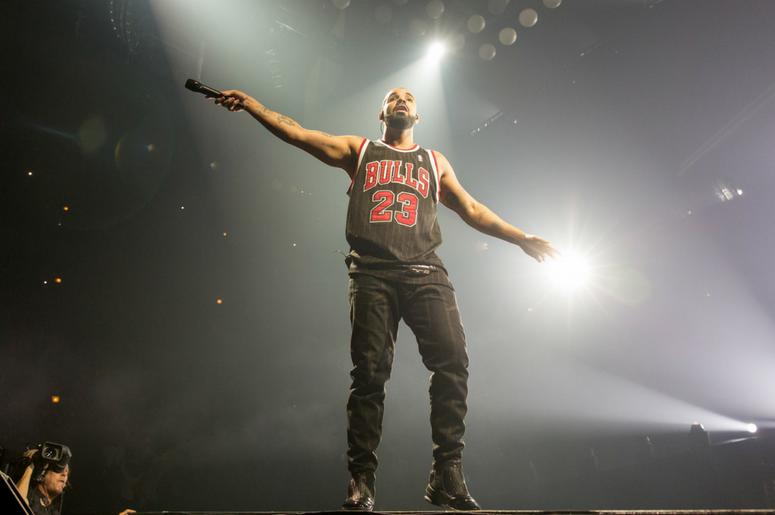 Drake performs