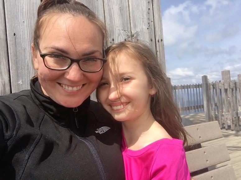 Caitlin & her daughter Emeline