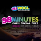 98 Minutes Commercial Free on 98.1 WOGL