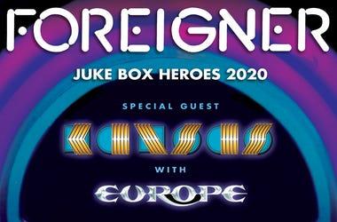 Foreigner  Tour Name: Juke Box Heroes Support: Kansas, Europe BB&T Pavilion August 25, 2020