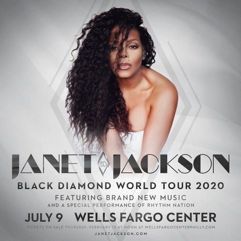 Janet Jackson on herBlack Diamond Tour