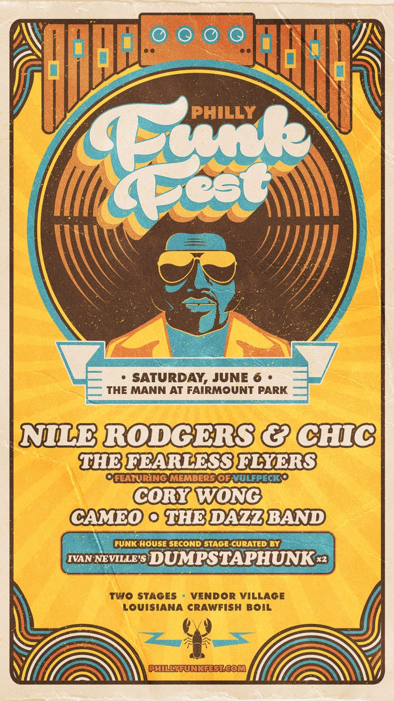 See Philly Funk Fest with Nile Rodgers & Chic on Saturday, June 6, 2020 at The Mann at Fairmount Park!