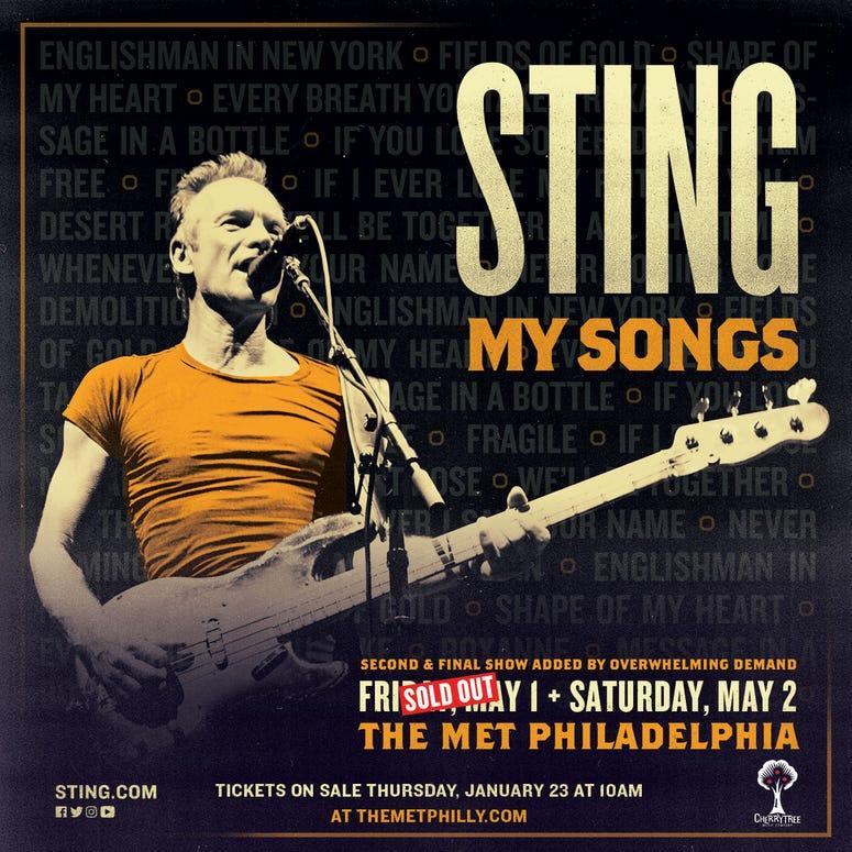 sting second show philadelphia
