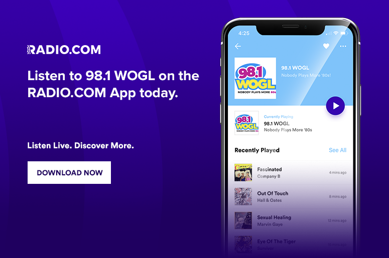 Listen To 98.1 WOGL Anywhere! On The RADIO.COM app, Alexa, Google Home, Smartspeakers, in philadelphia and philly, delaware, new jersey and beyond!