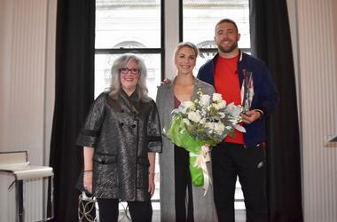 Marilyn Russell, Julie Ertz, and Zach Ertz