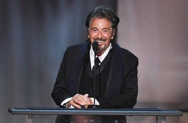HOLLYWOOD, CA - JUNE 08: Actor Al Pacino speaks onstage during American Film Institute's 45th Life Achievement Award Gala Tribute to Diane Keaton at Dolby Theatre on June 8, 2017 in Hollywood, California.
