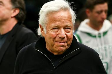 New England Patriots owner Robert Kraft smiles.