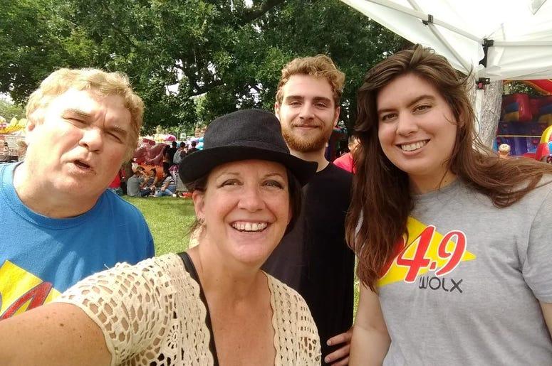 WOLX team at Sweet Corn Festival with Jim, Teri, Jordan, Rachel