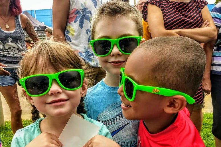 Kids wearing their WOLX summer shades