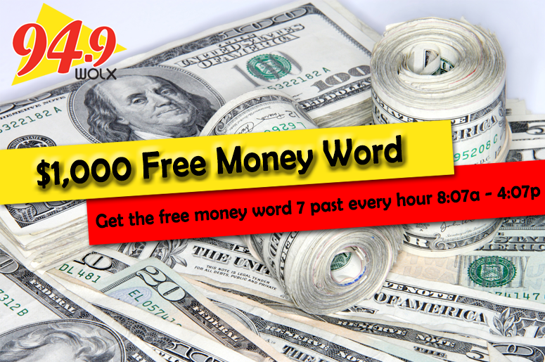 WOLX $1000 Free Money Word
