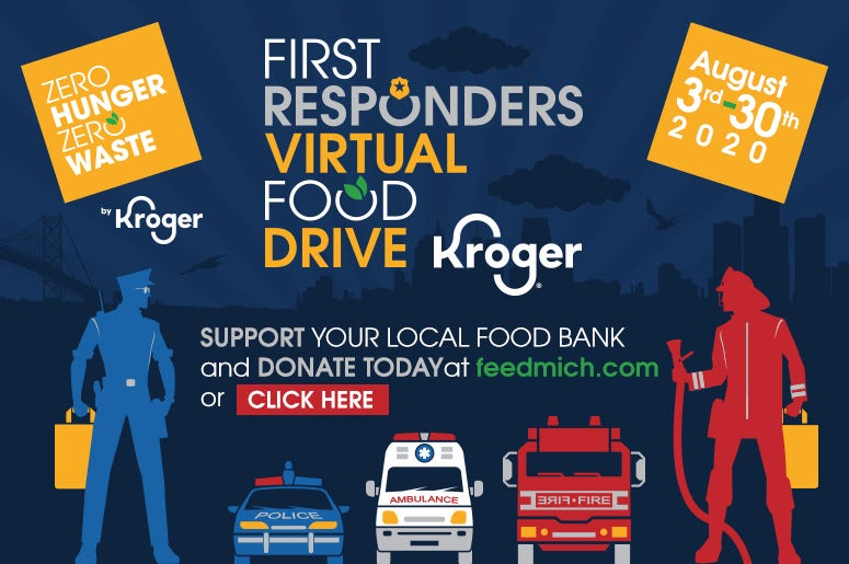First Responder virtual food drive
