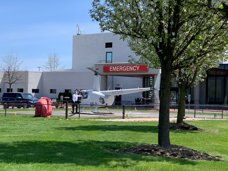 Helicopter at Hospital