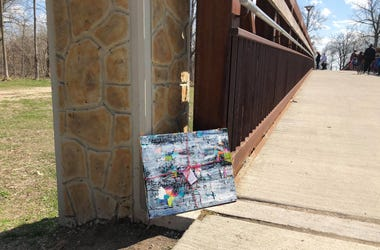 Artist leaves art around Dodge Park