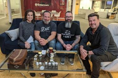 Stephen & JoAnne with owners of Detroit Grooming Company