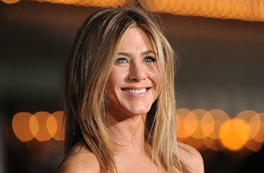 Actress Jennifer Aniston arrives at the premiere of Universal Pictures' 'Wanderlust' held at Mann Village Theatre on February 16, 2012 in Westwood, California.