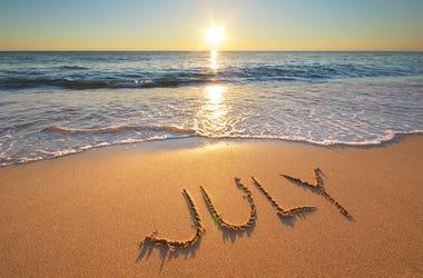 Beach in July
