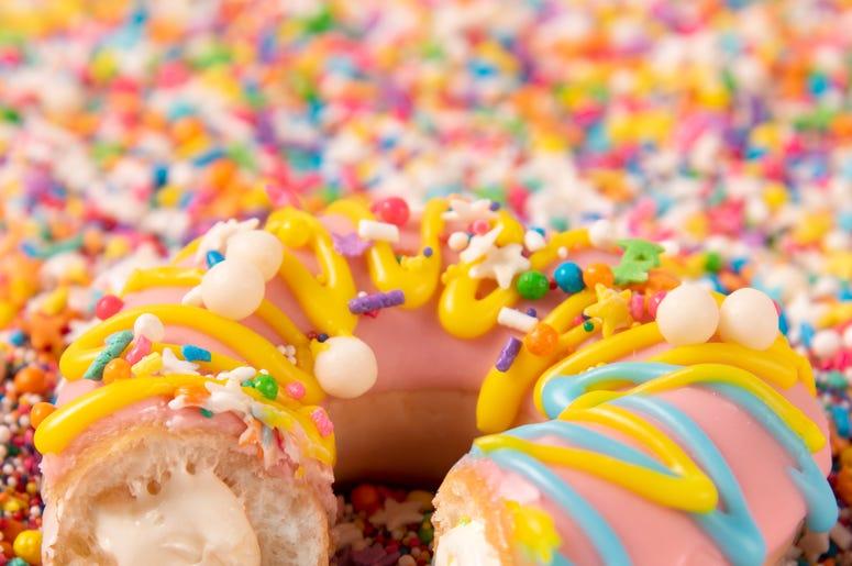 Cool Krispy Kreme Birthday Celebration Cake Batter Doughnut Womx Funny Birthday Cards Online Alyptdamsfinfo