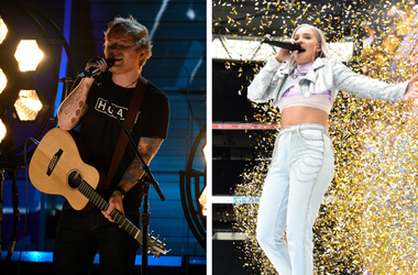 Feb 12, 2017; Los Angeles, CA, USA; Ed Sheeran performs during the 59th Annual Grammy Awards at Staples Center. / 6/9/2018 - Anne-Marie during Capital's Summertime Ball with Vodafone at Wembley Stadium, London. This summer's hottest artists performed live