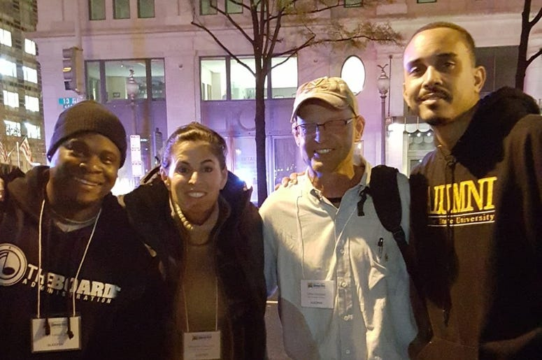 Joe Clair and Poet joined Covenant House Sleep Out America.