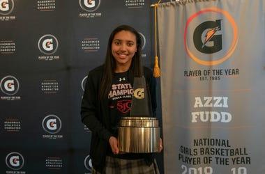 Azzi Fudd is named Gatorade National Girls Basketball Player of the Year.