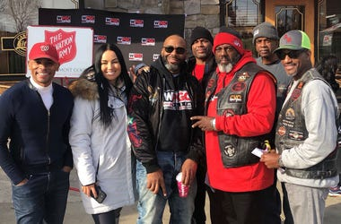 WPGC-FM personalities during our 2019 Coat Drive at Carolina Kitchen in Northeast, D.C.