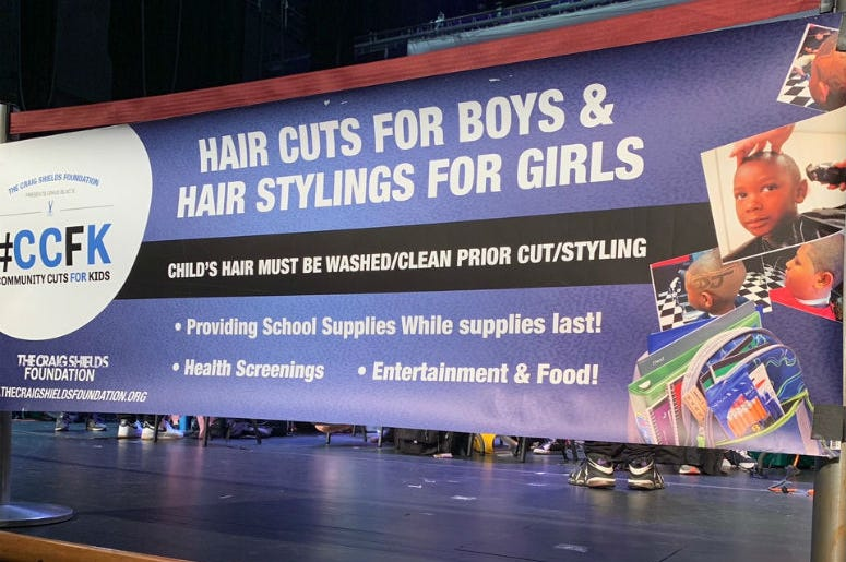 It was our annual Community Cuts for Kids event on Sunday, August 25 at THEARC.