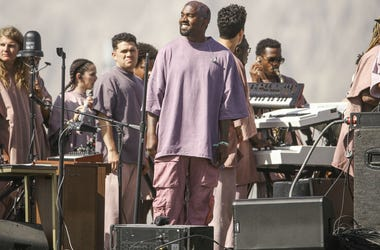 "Kanye West dropped ""Church Clothes"" apparel at his Sunday Service at Coachella."
