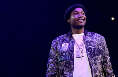 Meek Mill challenges his son to eat crickets.